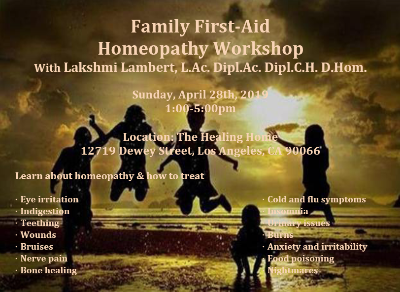 Family First-Aid Homeopathy Workshop | Holistic Health LA